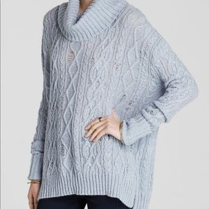Free People blue turtleneck sweater